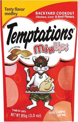 Temptations Mixups Backyard Cookout Cat Treats, 3-oz bag