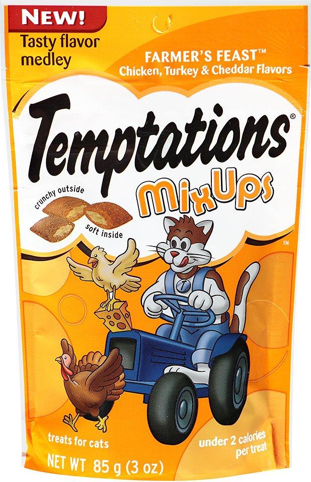 Temptations Mixups Farmer's Feast Cat Treats, 3-oz bag