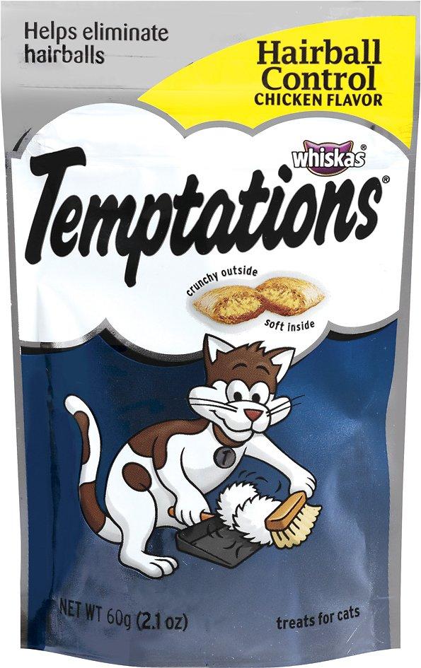 Temptations Hairball Control Chicken Flavor Cat Treats, 2.1-oz bag Image