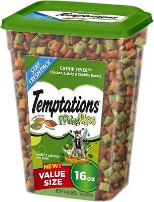 Temptations Mixups Catnip Fever Cat Treats, 16-oz tub