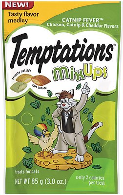 Temptations Mixups Catnip Fever Cat Treats, 3-oz bag