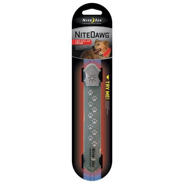 Nite Ize Nite Dawg LED Collar Cover Dog Collar, Grey