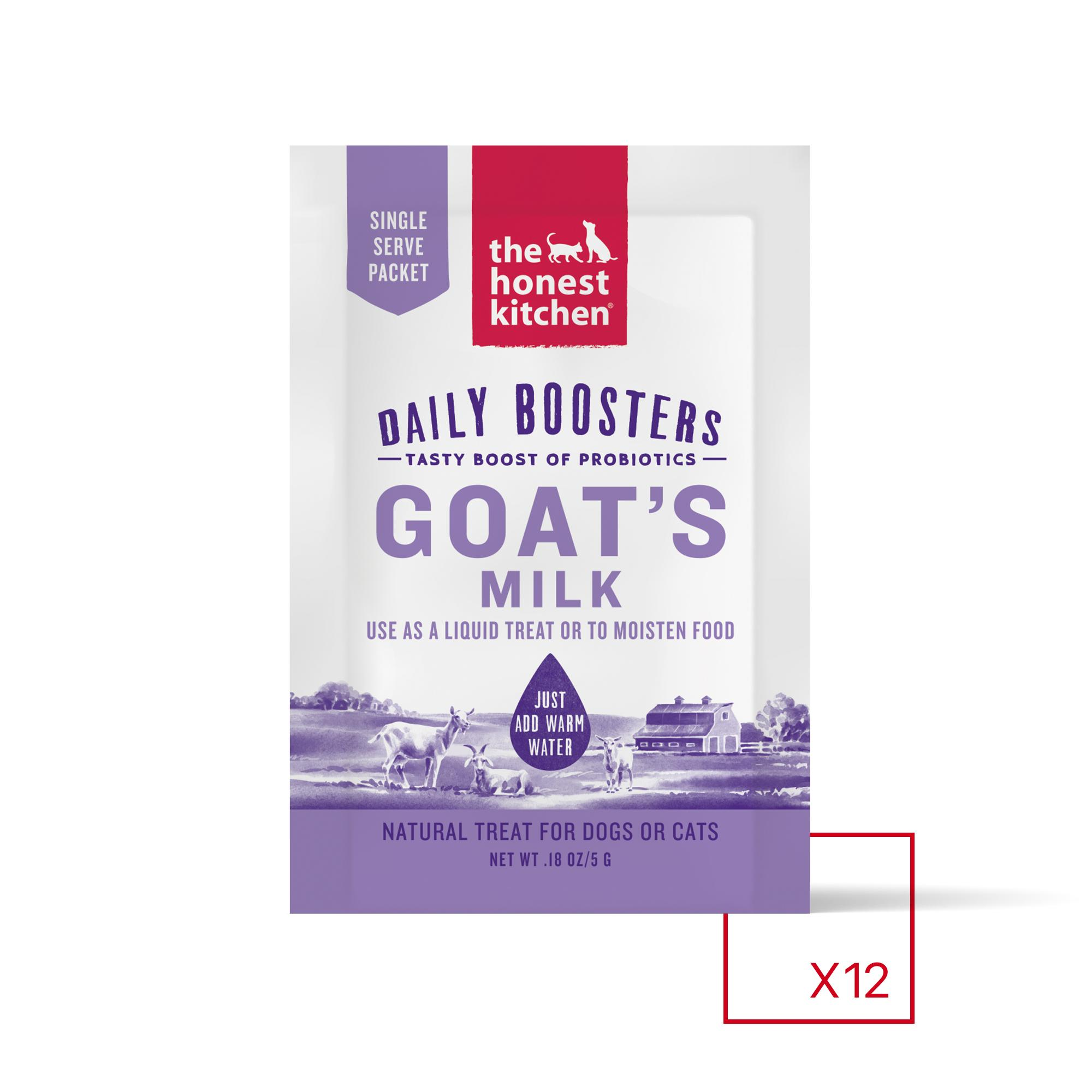 The Honest Kitchen Daily Boosters Instant Goat's Milk with Probiotics for Dogs & Cats, 0.12-oz