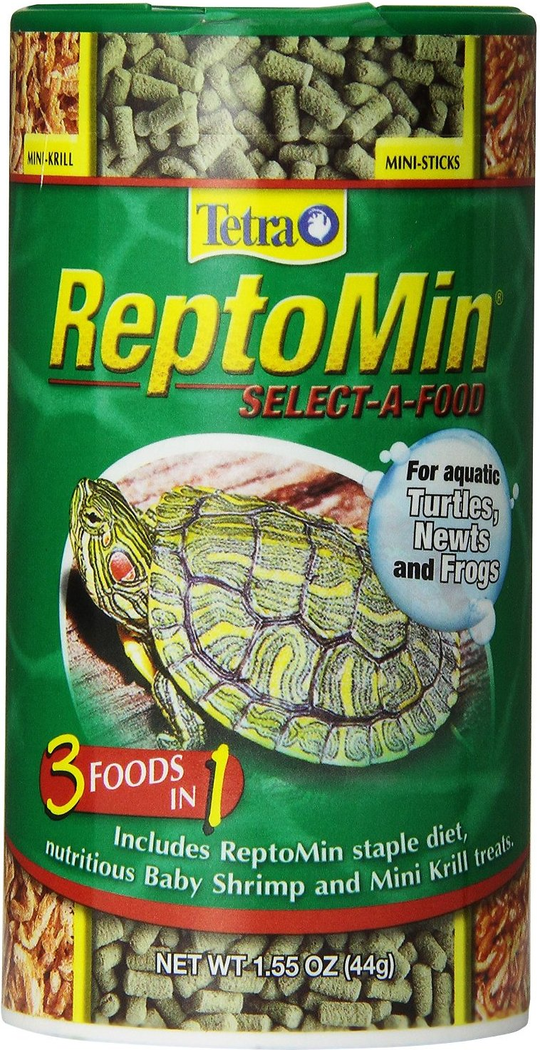 Tetra ReptoMin Select-A-Food 3 in 1 Mini-Sticks Turtle, Newt & Frog Food, 1.55-oz jar Image