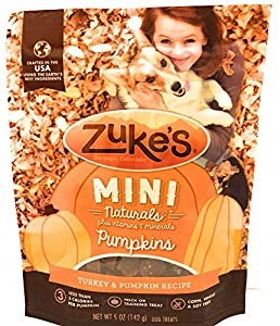 Zuke's Mini Naturals Turkey & Pumpkin Recipe Dog Treats, 5-oz