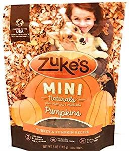Zuke's Mini Naturals Turkey & Pumpkin Recipe Dog Treats, 5-oz (Size: 5-oz) Image