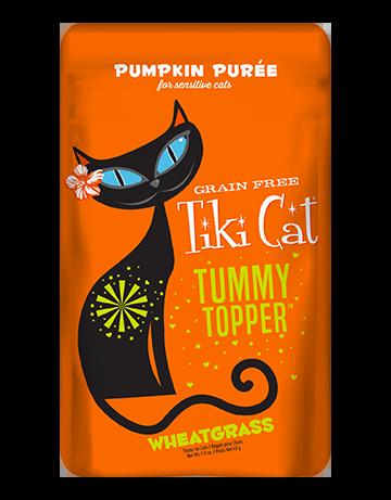 Tiki Cat Tummy Topper Pumpkin Puree & Wheatgrass Cat Topper, 1.5-oz