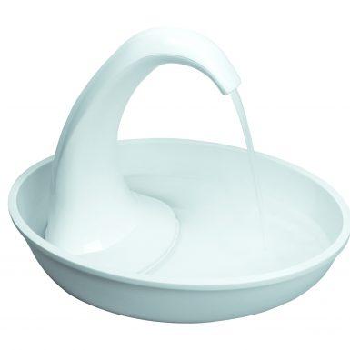 Pioneer Pet Plastic Drinking Fountain Swan Design