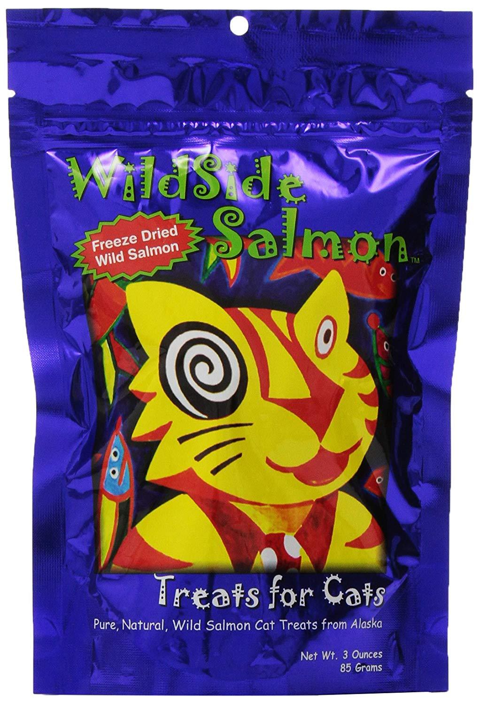 Wildside Salmon Freeze-Dried Cat Treats, 3-oz