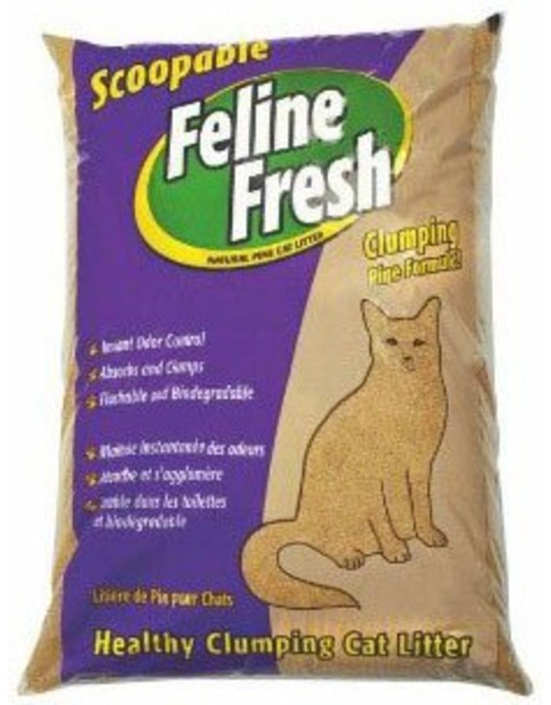 Feline Fresh Clumping Pine Cat Litter, 17-lb