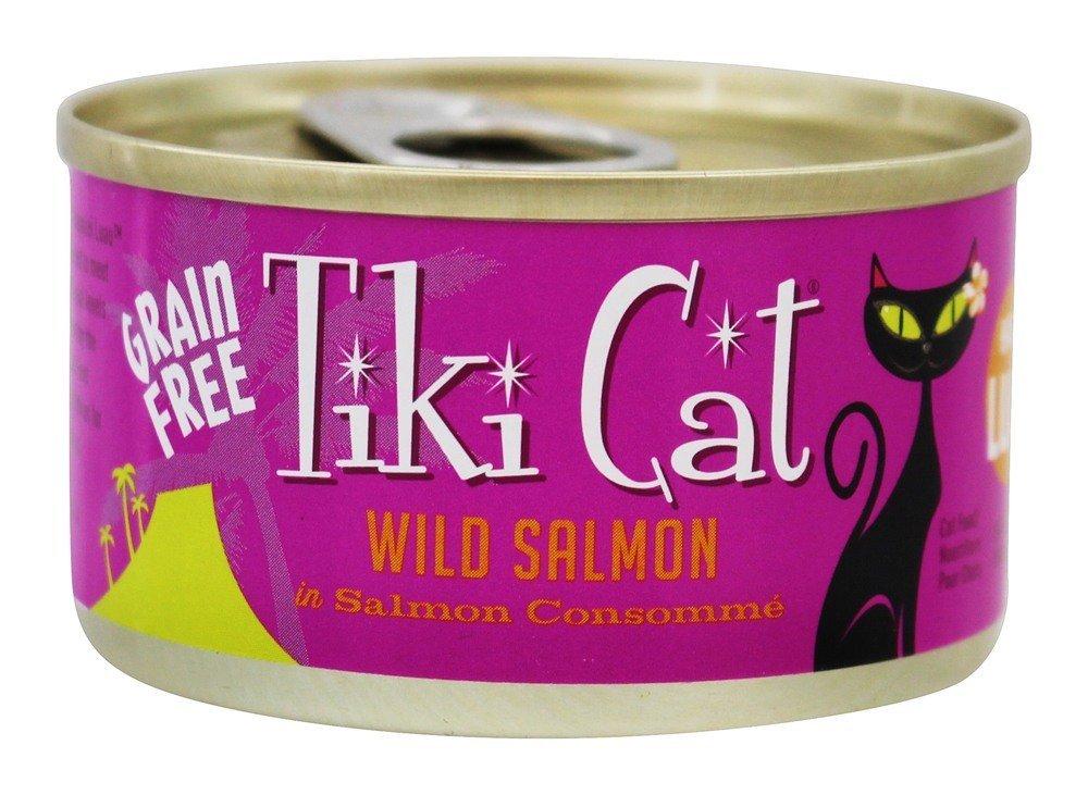 Tiki Cat Hanalei Luau Wild Salmon in Salmon Consomme Grain-Free Canned Cat Food, 2.8-oz