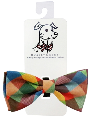 Huxley & Kent Fall Check Dog Bow Tie, Large