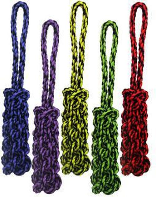 Multipet Nuts for Knots Tug Rope with Braided Stick Dog Toy, 16-in