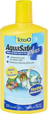 Tetra AquaSafe Plus Freshwater & Marine Aquarium Water Conditioner, 16.9-oz bottle