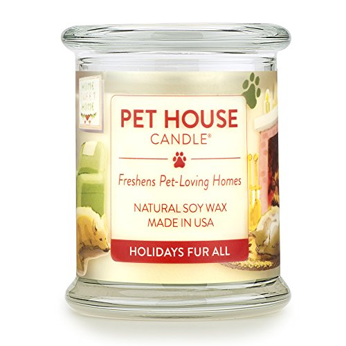 One Fur All Pet House Holidays Fur All Natural Soy Candle, 8.5-oz jar