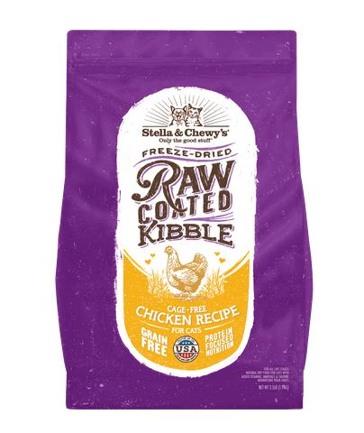 Stella & Chewy's Raw Coated Kibble Cage-Free Chicken Recipe Grain-Free Dry Cat Food, 2.5-lb
