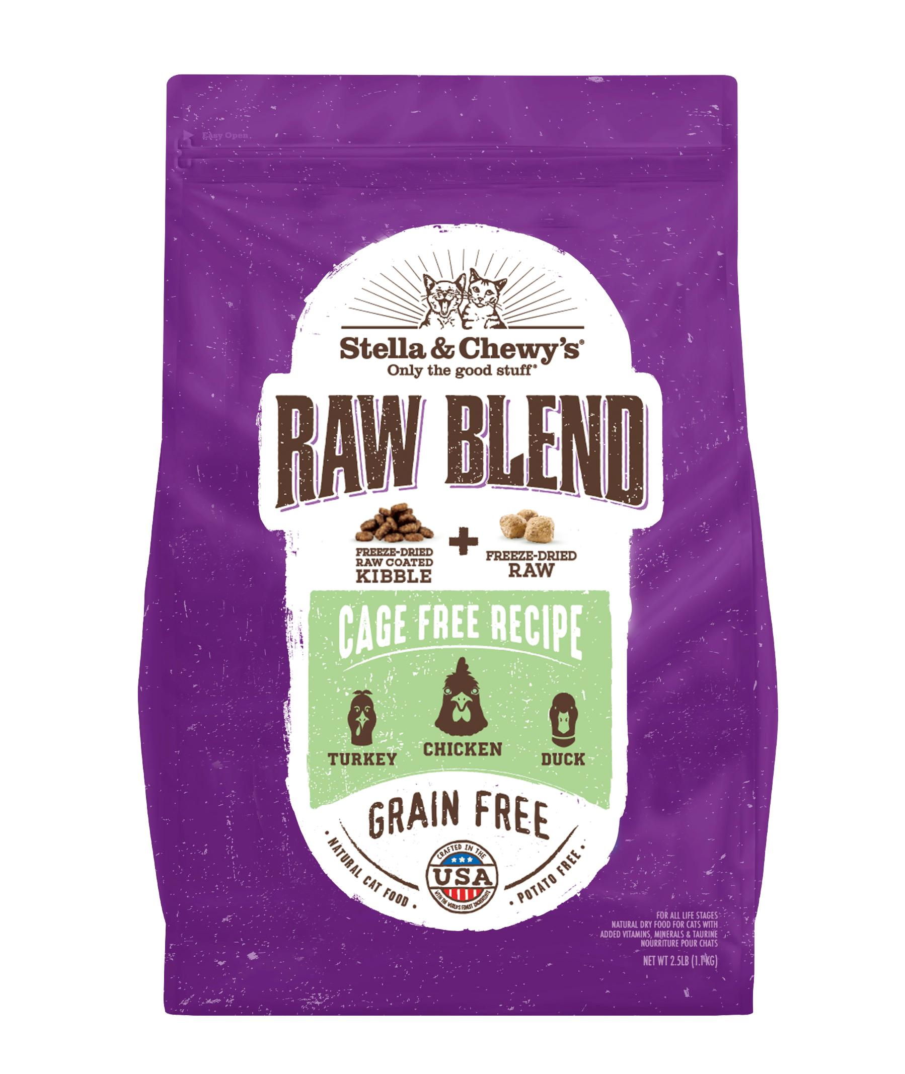 Stella & Chewy's Raw Blend Cage-Free Poultry Recipe Dry Cat Food, 2.5-lb