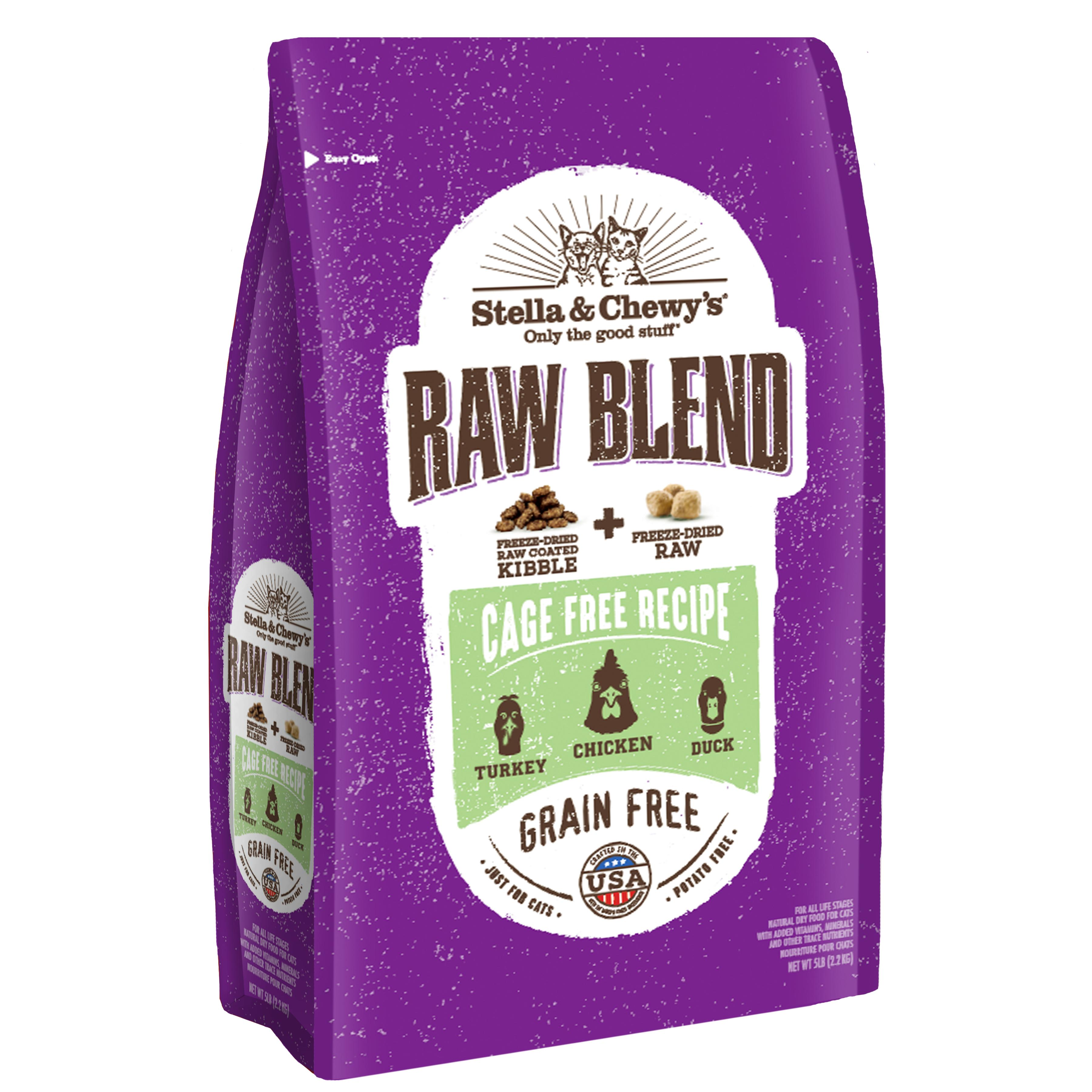 Stella & Chewy's Raw Blend Cage-Free Poultry Recipe Dry Cat Food, 5-lb