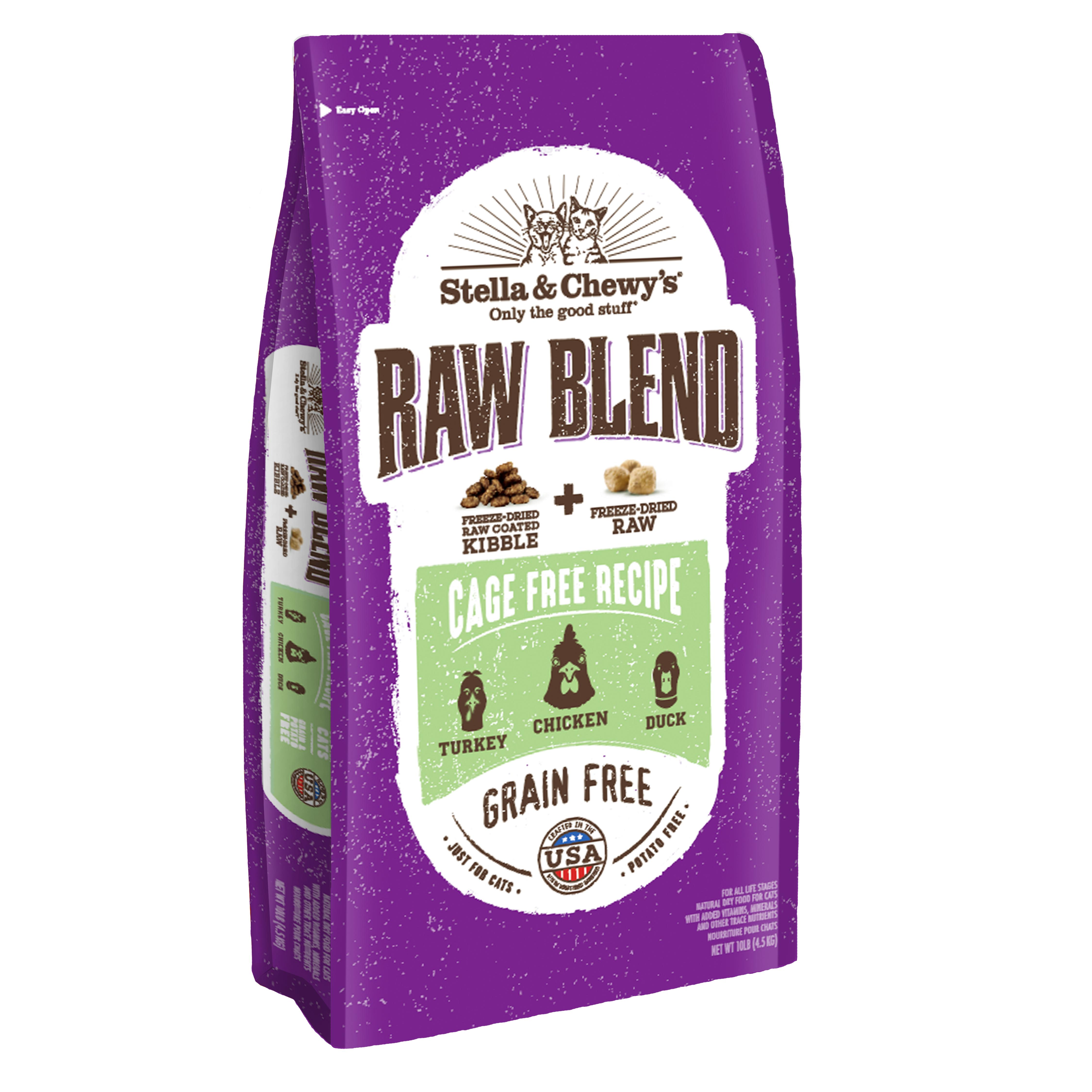 Stella & Chewy's Raw Blend Cage-Free Poultry Recipe Dry Cat Food, 10-lb