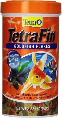 TetraFin Goldfish Flakes Fish Food, 3.53-oz jar