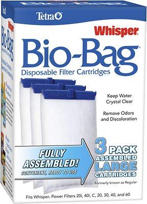Tetra Whisper Bio-Bags Large Filter Cartridge, 3 count