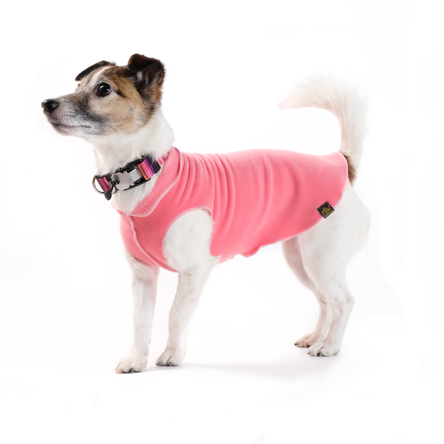 Gold Paw Stretch Fleece Coral Dog Coat, 14