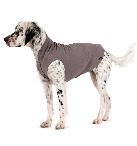 Gold Paw Stretch Fleece Charcoal Grey Dog Coat Image