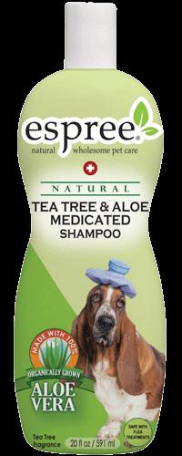 Espree Tea Tree & Aloe Medicated Dog Shampoo, 20-oz