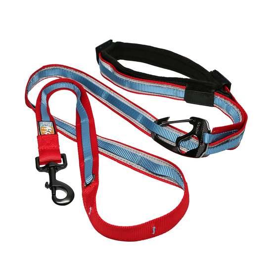 Kurgo Quantum 6-in-1 Dog Leash, Red