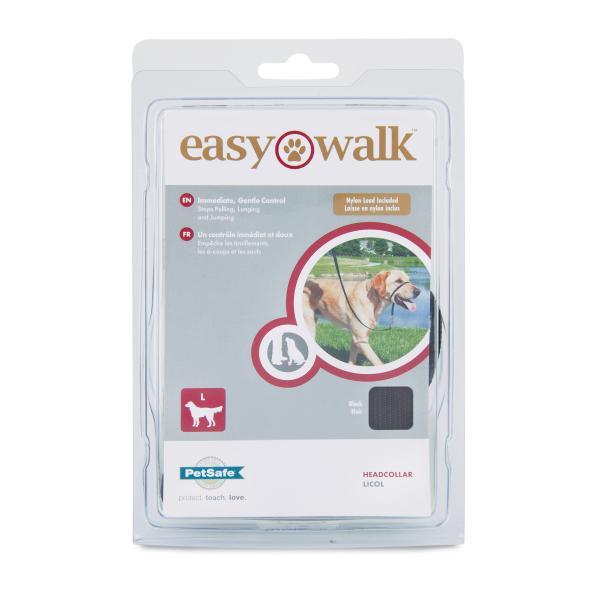 PetSafe Easy Walk Dog Headcollar, Black, Large