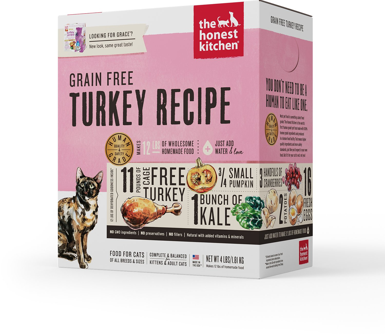 The Honest Kitchen Grain-Free Turkey Recipe Dehydrated Cat Food Image