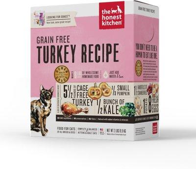 The Honest Kitchen Grain-Free Turkey Recipe Dehydrated Cat Food, 2-lb box