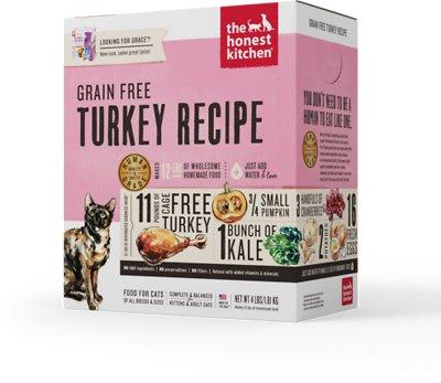 The Honest Kitchen Grain-Free Turkey Recipe Dehydrated Cat Food, 4-lb box