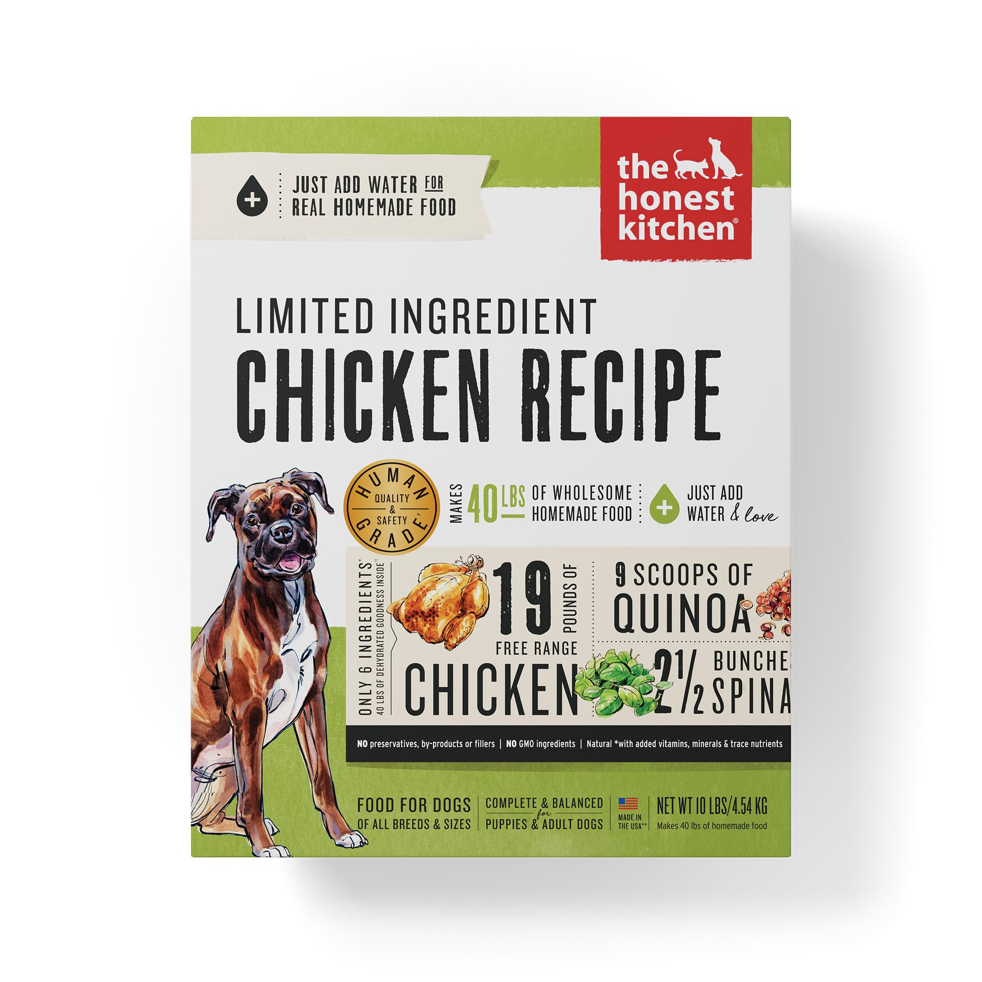 The Honest Kitchen Limited Ingredient Chicken Recipe Dehydrated Dog Food, 10-lb box