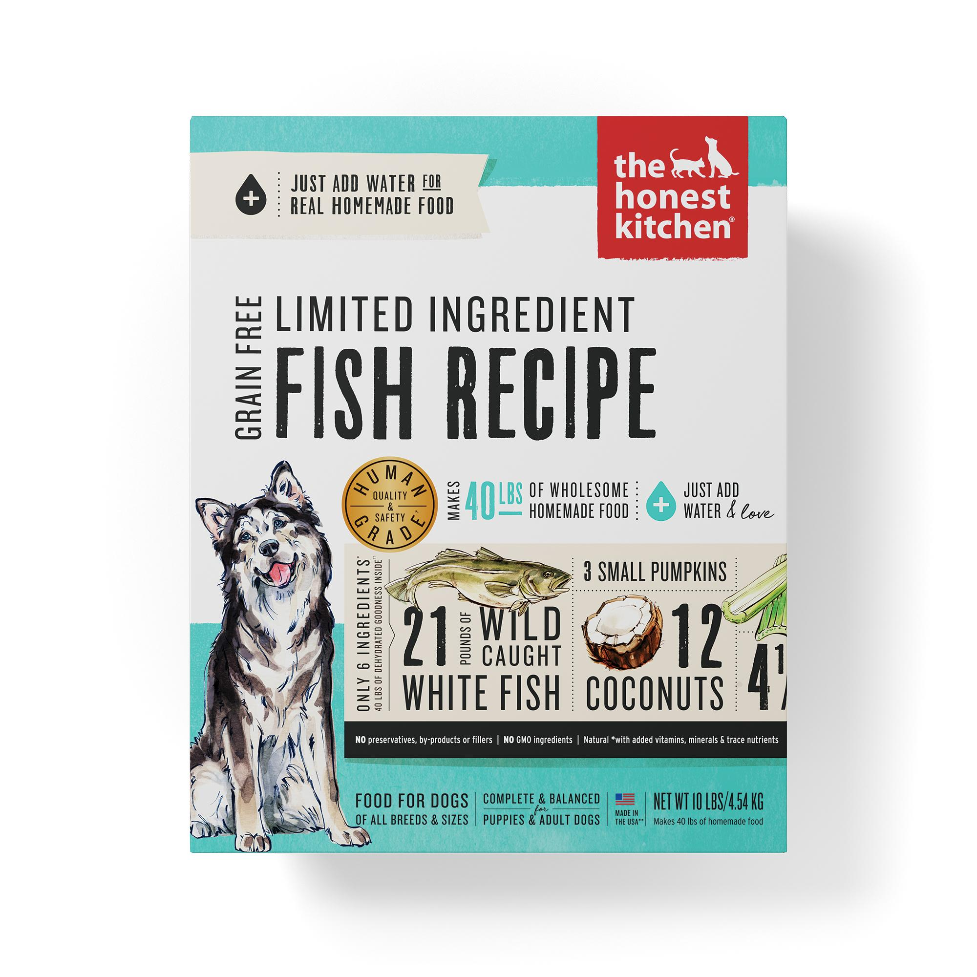 The Honest Kitchen Limited Ingredient Fish Recipe Dehydrated Dog Food, 10-lb box