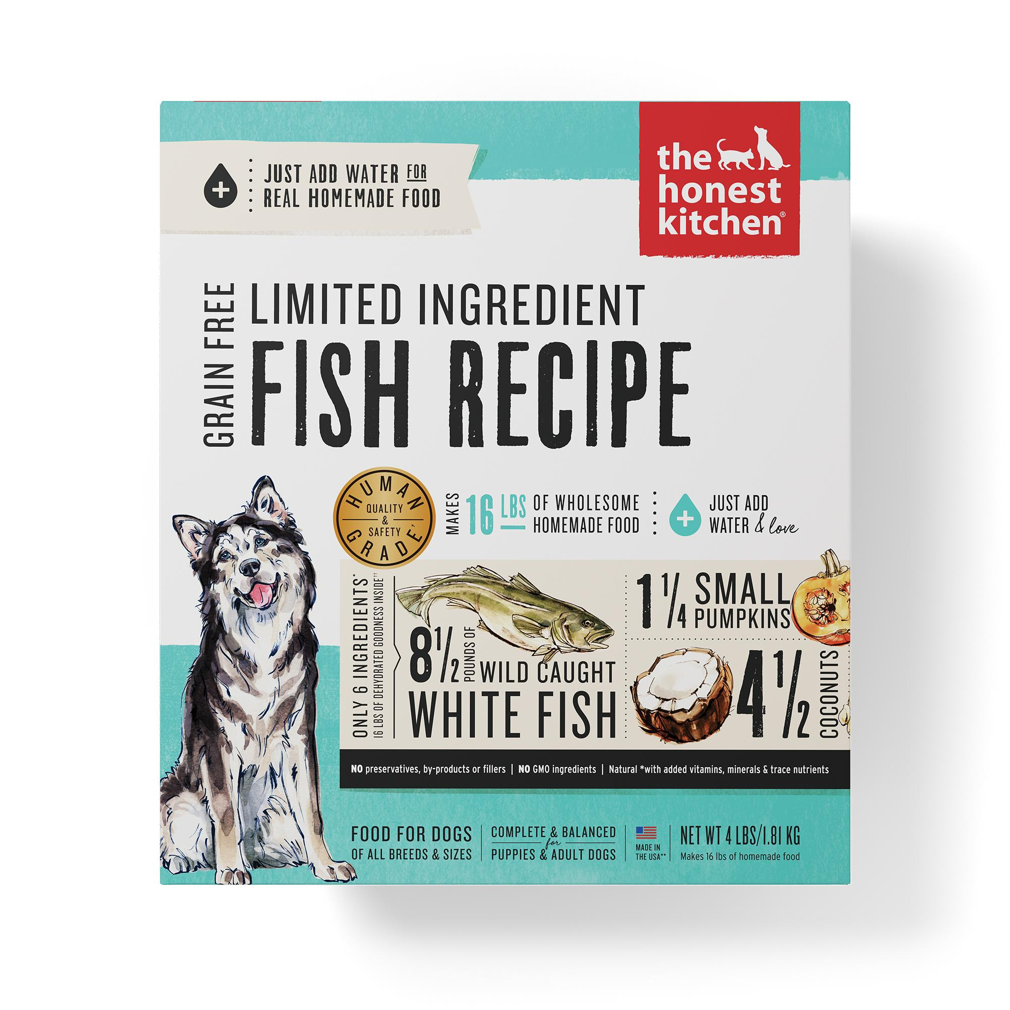 The Honest Kitchen Limited Ingredient Fish Recipe Dehydrated Dog Food, 4-lb box