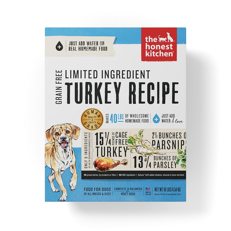 The Honest Kitchen Limited Ingredient Turkey Recipe Dehydrated Dog Food Image