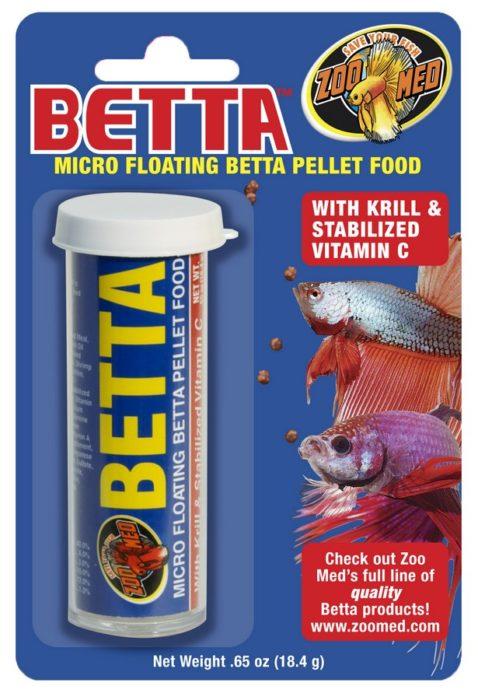 Zoo Med Betta Micro Floating Pellet Fish Food, 0.65-oz