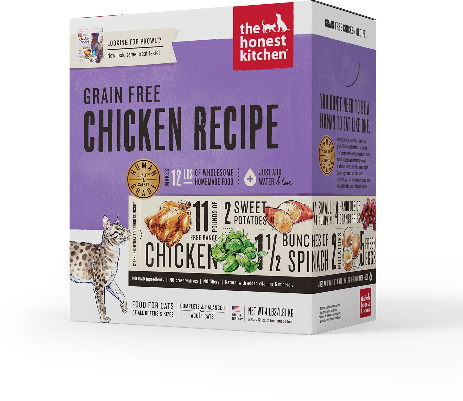 The Honest Kitchen Grain-Free Chicken Recipe Dehydrated Cat Food Image