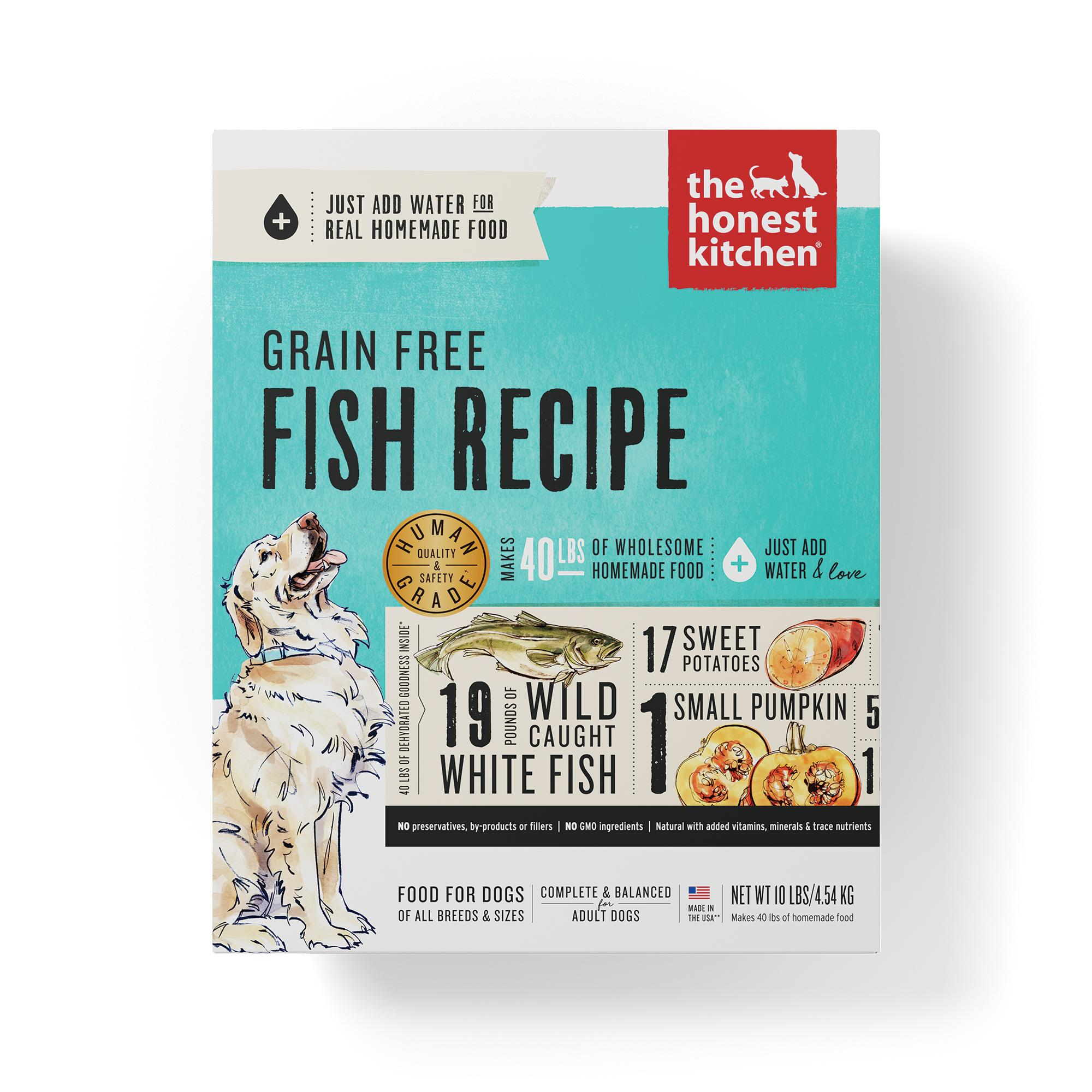 The Honest Kitchen Fish Recipe Grain-Free Dehydrated Dog Food, 10-lb box