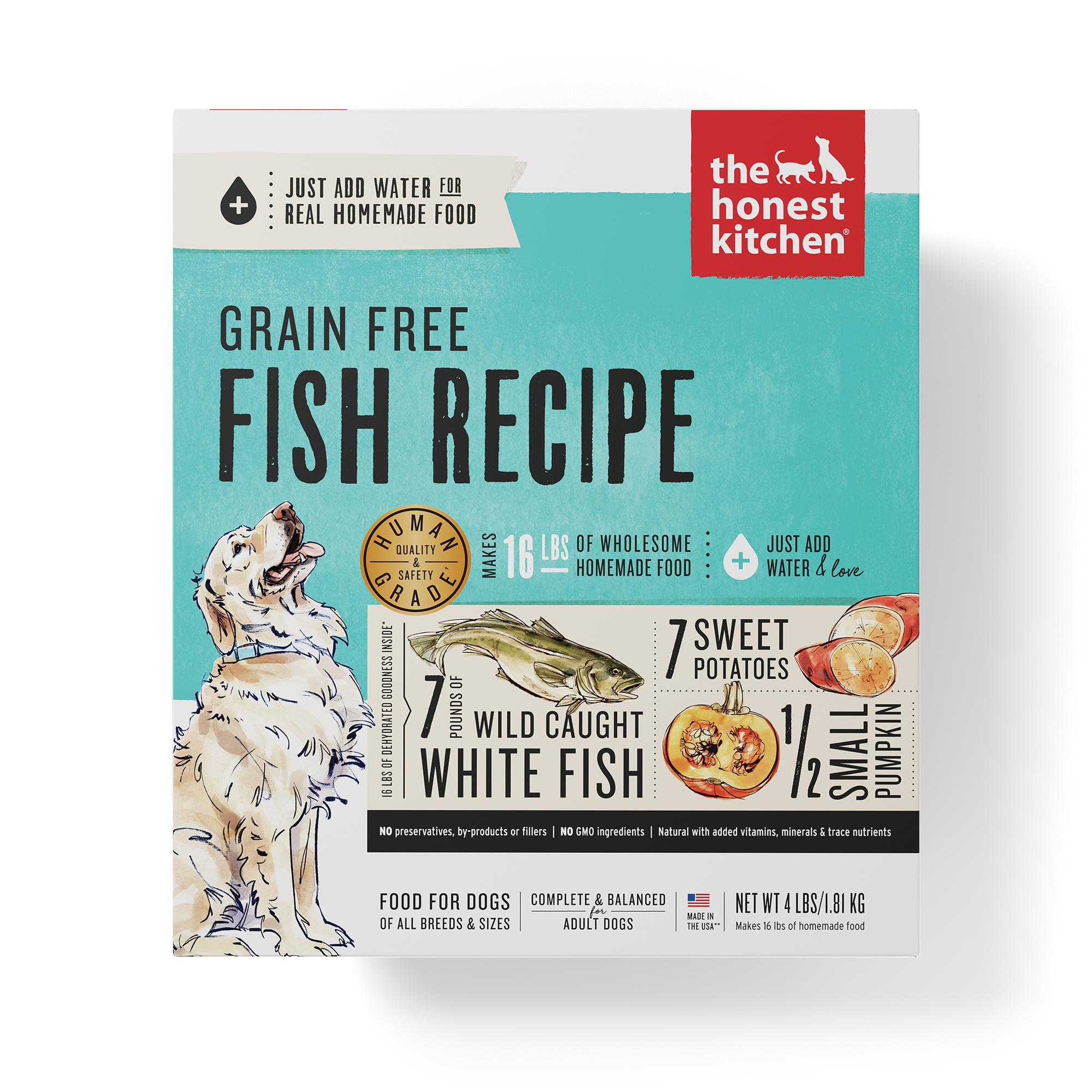 The Honest Kitchen Fish Recipe Grain-Free Dehydrated Dog Food, 4-lb box