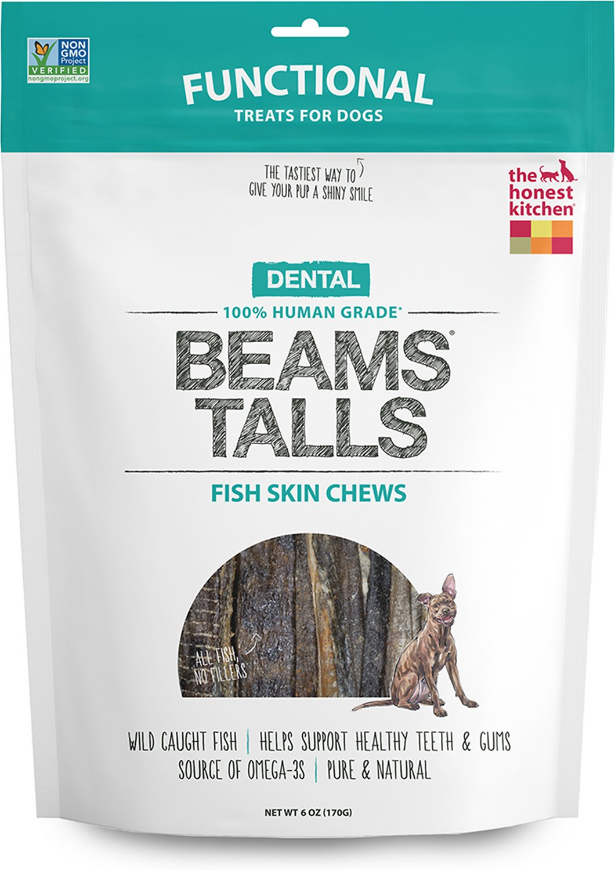 The Honest Kitchen Dental Beams Dehydrated Fish Skin Chews Dog Treats Image