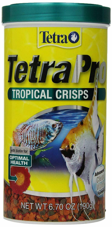 Tetra TetraPro Tropical Crisps Fish Food, 6.71-oz