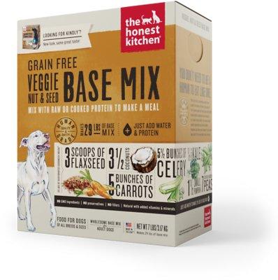 The Honest Kitchen Grain-Free Veggie, Nut & Seed Dehydrated Dog Base Mix, 7-lb box
