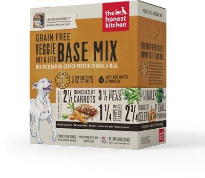 The Honest Kitchen Grain-Free Veggie, Nut & Seed Dehydrated Dog Base Mix, 3-lb box