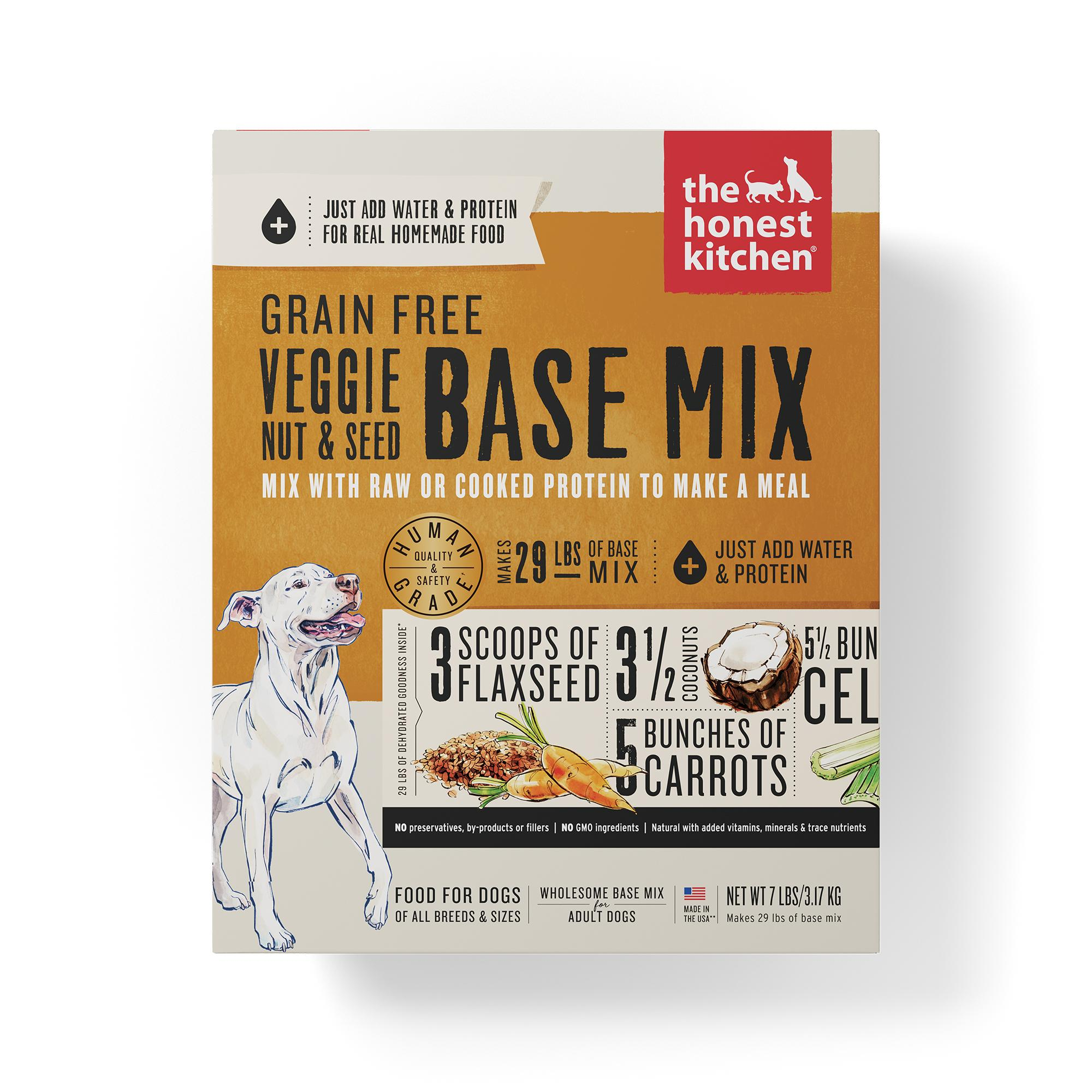 The Honest Kitchen Veggie, Nut & Seed Base Mix Grain-Free Dehydrated Dog Food, 7-lb box