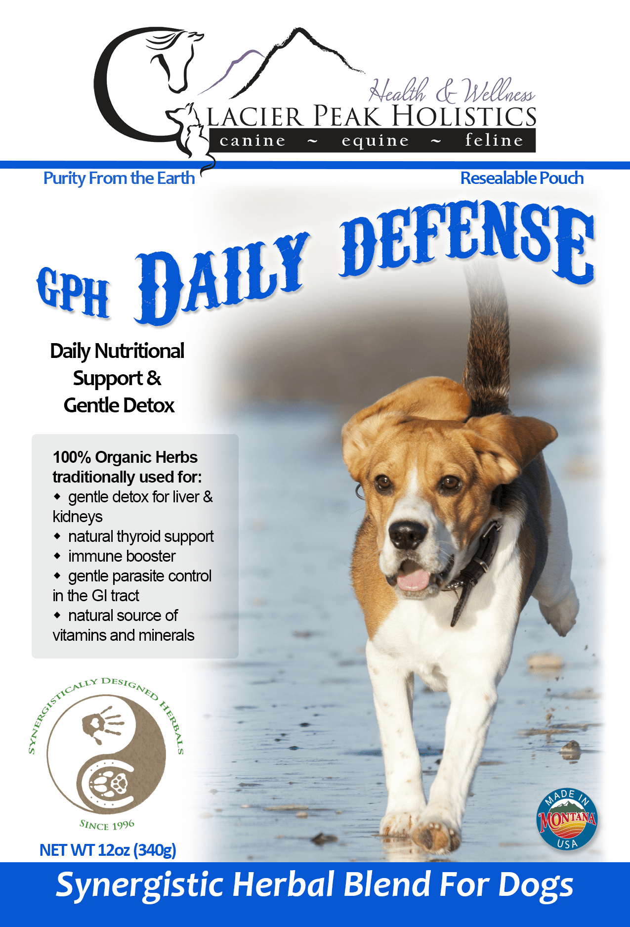 Glacier Peak Holistics Daily Defense Powder Dog Supplement, 12-oz