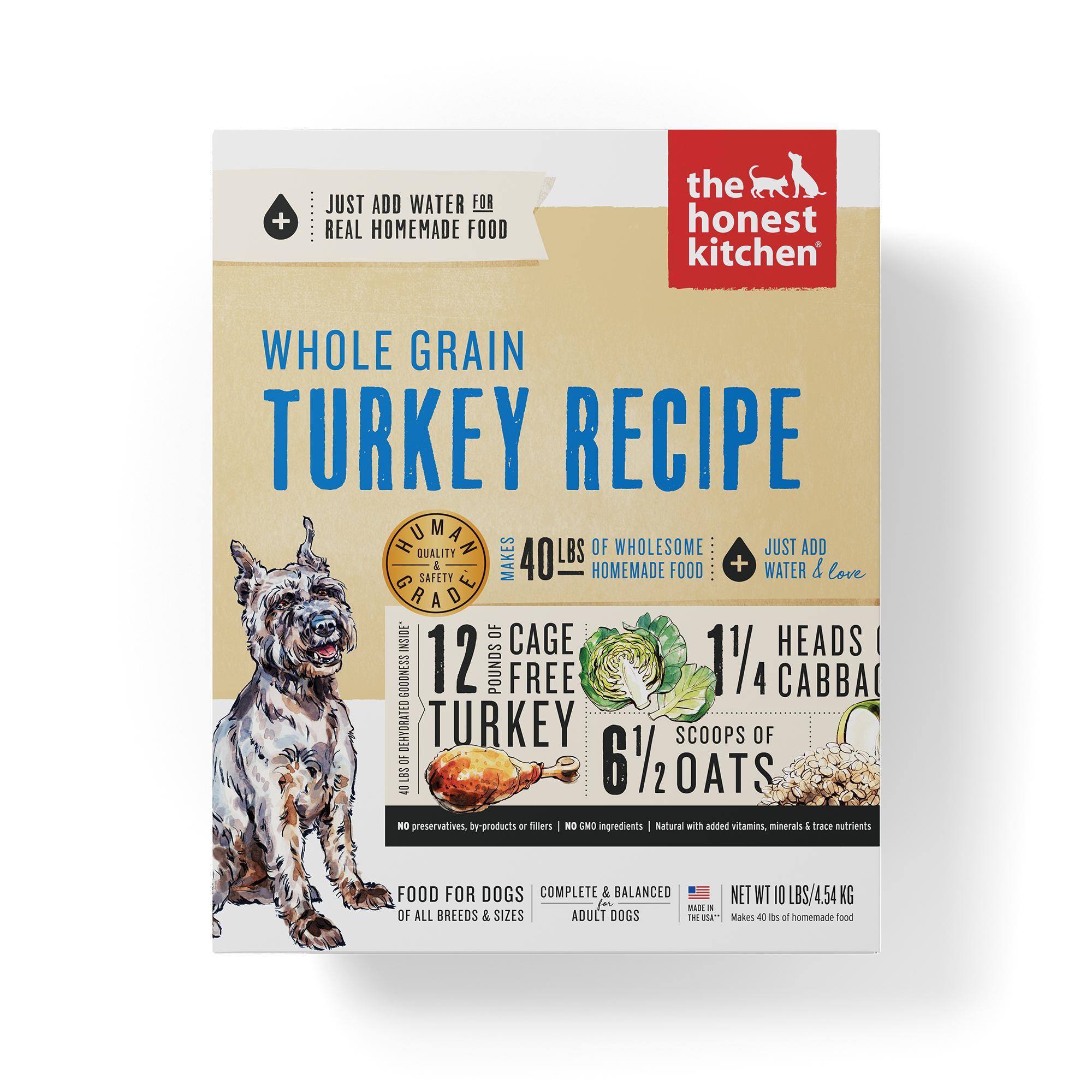The Honest Kitchen Whole Grain Turkey Recipe Dehydrated Dog Food, 10-lb box