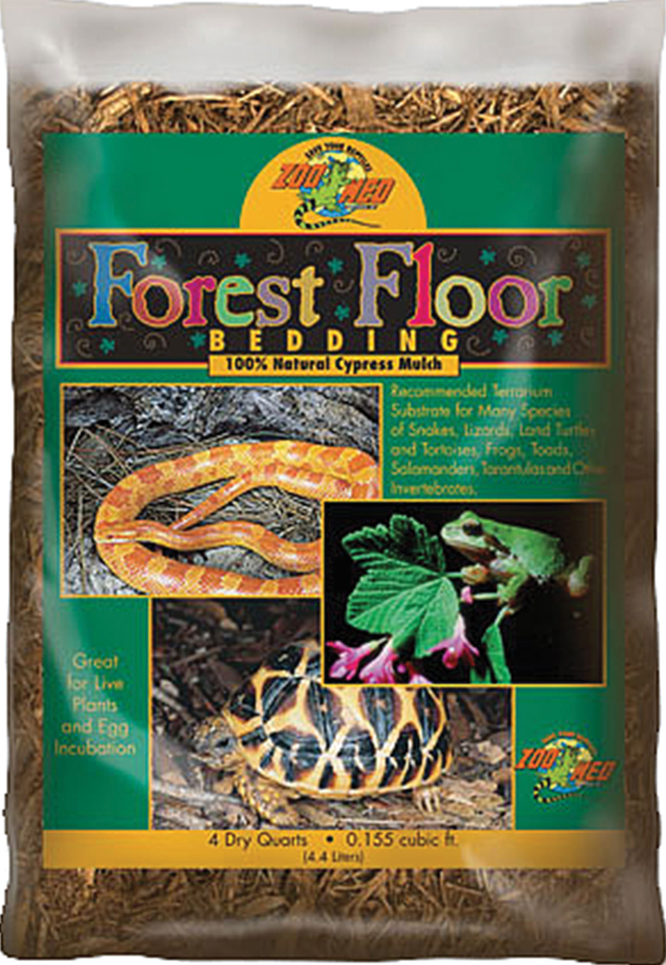 Zoo Med Forest Floor Natural Cypress Mulch Reptile Bedding, 4-qt bag