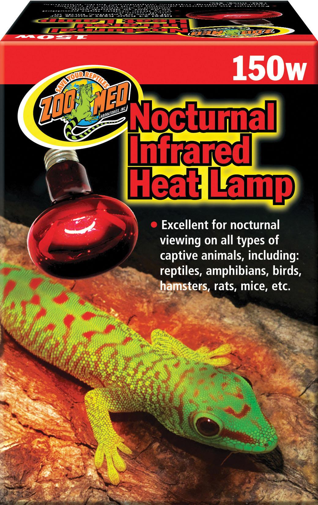 Zoo Med Nocturnal Infrared Reptile Heat Lamp, 150-watt
